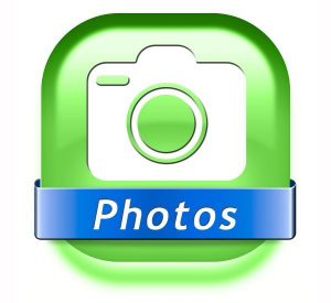 photos button picture and image gallery icon